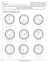 Telling Time Printable Worksheets First Grade New Clock Learning ...