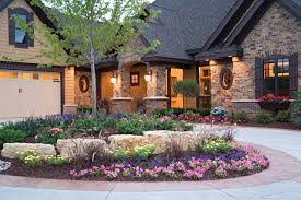 Small Picture circular driveway landscaping Driveway landscaping with rocks