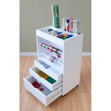 Studio Designs White Crafts and Hobby Wrapping Paper Cart - Free Shipping  Today - Overstock.com - 15214767