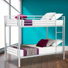 Amazoncom Mecor Twin over Twin Metal Bunk Beds with Ladder for