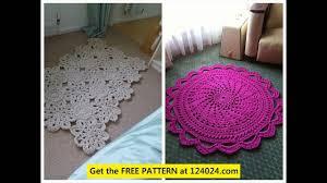 crochet round rugs crochet bathroom rug t shirt rug crochet pattern