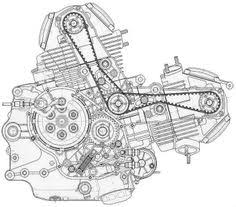technical drawings for the win art of the machine core de moto ducati monster 600 · motorcycle enginemotorcycle partsducati