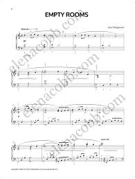 color my world sheet music empty rooms slow pop ballad for intermediate level sam wedgwood