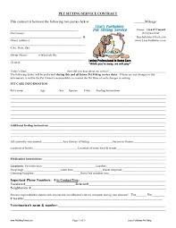 Pet Sitting Contract Templates Dogs Pinterest Pet Sitting Dog