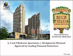 Book 2, 3 and 4 bedroom starting Rs 69 lac at Prestige High Fields in  Hyderabad - Zricks.com