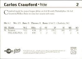 1997 Carolina Mud Cats Best #2 Carlos Crawford Charlotte North Carolina NC  Card | eBay