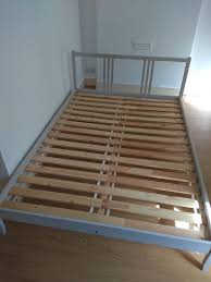 double bed frame by ikea fjellse model painted grey