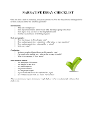 Does An Essay Have Paragraphs Narrative Essay Checklist