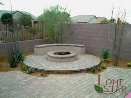 backyard raised patio ideas. Raised Patio Backyard With Paver Stones, Fire Pit And Seating Area In Phoenix Ideas