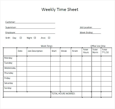 Employee Time Sheets Excel Free Printable Timesheets For Employee Download Them Or Print