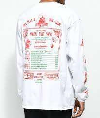 Zumiez Size Chart Open925 Wok This Way White Long Sleeve T Shirt