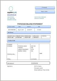 Physician Billing Statement Invoice Template Statement