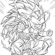Trunks And Goku In Dragon Ball Z Coloring Page Kids Play Color 7997