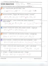 collection of free 30 chemistry word equations worksheet ready to or print please do not use any of chemistry word equations worksheet for
