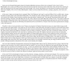 to kill a mockingbird prejudice essay original content to kill a mockingbird prejudice essay