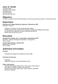Resume For High School Graduate With No Experience Resume For High