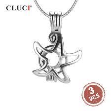 CLUCI, 3 шт., 925 пробы, серебро, морская звезда, <b>жемчужная</b> ...