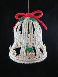 Large Plastic Christmas Bell Decorations Extraordinary Vintage Plastic Canvas Christmas Bell Plastic Canvas Bell