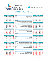 Image Of 2020 Calendar Ashk Calendar 2019 2020 American School Of Hong Kong