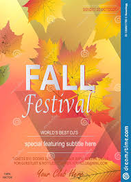 Fall Flyer Fall Festival Party Flyer Stock Vector Illustration Of