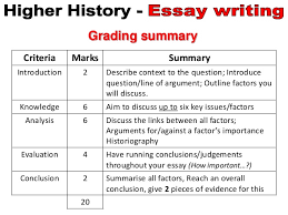 higher history essay general info  3 types of questions essays