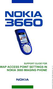 Nokia 3660 366o Access Point Settings ...