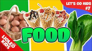 Bé học tiếng Anh về Đồ ăn [Trọn bộ 20 chủ đề từ vựng sách Let's go] [Lioleo  Kids] - YouTube