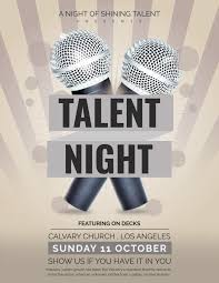 Free Talent Show Flyer Template In Adobe Photoshop Illustrator