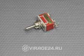 <b>Тумблер 250V 6A</b> (3c) (ON)-OFF-(ON) однополюсной (KN-123 ...