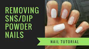 sns or dip powder removal at home