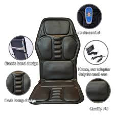 heated back electric massage chair seat car home office seat massager heat vibrate cushion back neck
