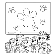 All The Puppies Of Paw Patrol Coloring Pages For Kids