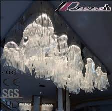 customized big glass chandelier ceiling lighting project lamp for lobby