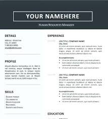 Resume Template Downloads Free Naomijorge Co