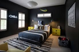 boys bedroom furniture black. sally wheat interiors tween boyu0027s bedroom charcoal gray with pops of yellow neon sign brendan loves boys furniture black e