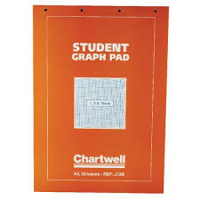 Chartwell A3 30 Sheet 70gsm Paper Graph Pad 1mm 5mm And 10mm Square Ruled J13b