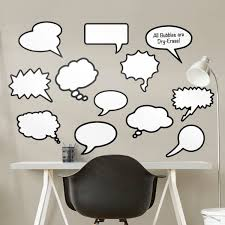 dry erase thought bubbles large removable wall decals fathead