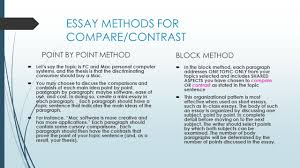 contrast method essay comparison and contrast essays