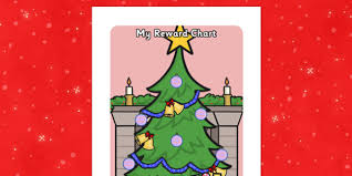 Christmas Chart Images Christmas Sticker Reward Chart 15mm Christmas Sticker