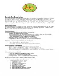 Skills For A Job Resume Sample Barista Resume Objective Job Description Skills Manager 91