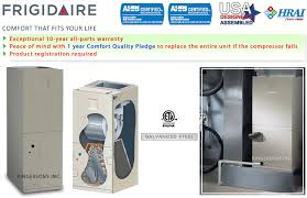 frigidaire central air conditioning units and heat pumps