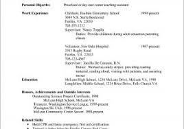 Child Care Resume Examples 50357 Resume For Child Care Best Sample