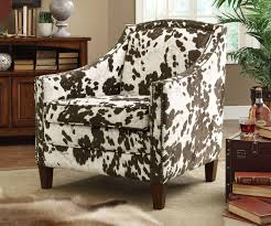 Printed Chairs Living Room Brown White Cow Print Accent Chair Caravana Furniture
