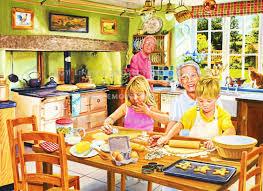 Grandmas Cake Bakery Kitchen Pastry Table