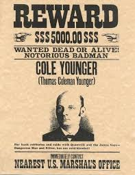 Reward Poster Old West Outlaws Old West Famous Outlaws
