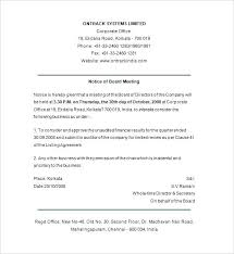 Meeting Announcement Template Notice Of Shareholders Meeting Template Meeting Announcement