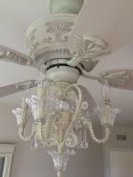 shabby chic chandelier ceiling fan thesecretconsul with regard to white chandelier ceiling fan light kit