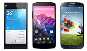 Xiaomi Mi3 Vs Nexus 5 Vs Galaxy S4 Specs Comparison