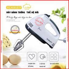 Máy Đánh Trứng Cầm Tay SCARLETT Chạy 7 Cấp Độ Bảo Hành 1 Đổi 1 - HD356