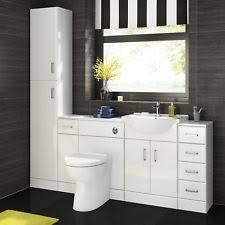 bathroom basin furniture. Bathroom Sink Cabinet Vanity Unit White Basin Storage Furniture Door Toilet